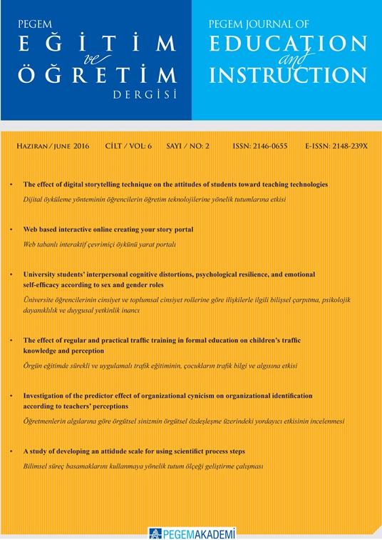 View Vol. 6 No. 2 (2016): Pegem Eğitim ve Öğretim Dergisi