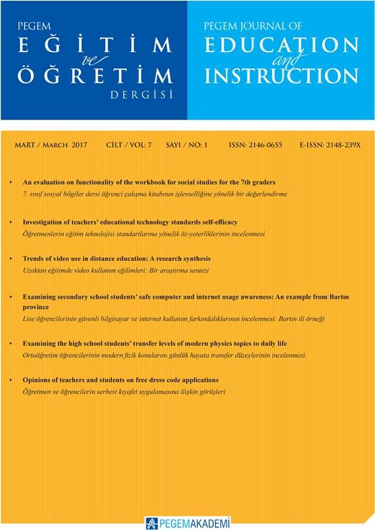 View Vol. 7 No. 1 (2017): Pegem Eğitim ve Öğretim Dergisi