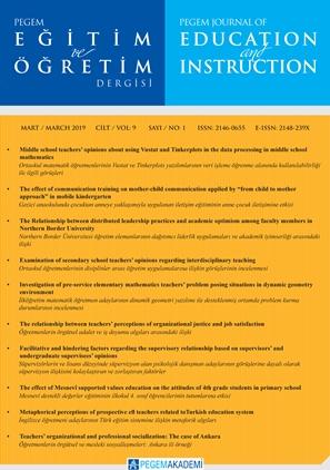 View Vol. 9 No. 1 (2019): Pegem Eğitim ve Öğretim Dergisi